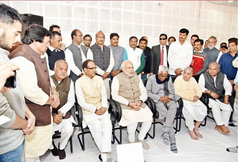 Bhopal: I learnt a lot from former chief minister Patwa, says Narendra Modi