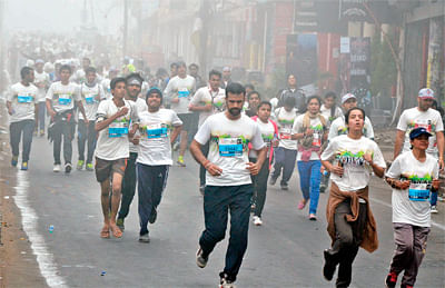 Bhopal: People gathered for 'Run Bhopal Run' Half Marathon