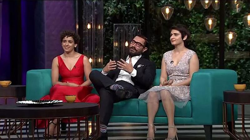 Aamir Khan at Karan Johar's 'Koffee…' couch with onscreen daughters