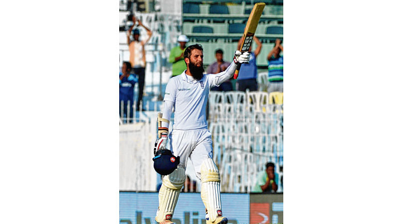 Moeen tones down India : Century by Ali lifts England to 284/4 on Day 1