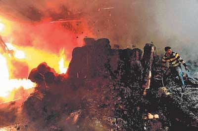Ujjain: Pattal-dona factory catches fire; goods worth lakhs gutted