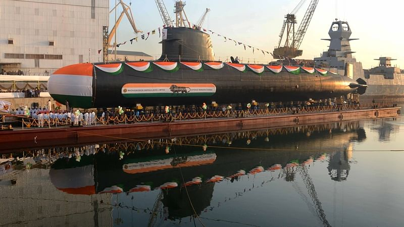 Mumbai: Khanderi – the second of the Scorpene class submarines was launched at the Mazgaon Dock Shipbuilders Limited (MDL) by the minister of state for defence, Dr Subhash Bhamre on Thursday.