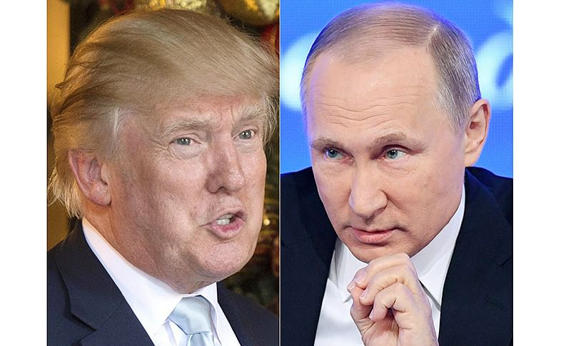 With a smile, Donald Trump tells Vladimir Putin 'don't meddle in the election'