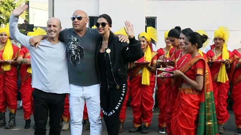 Deepika Padukone, Vin Diesel lands in Mumbai gets Maharashtrian welcome