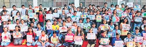 Indore: Thousands of school children turn up for The Free Press Journal painting contest