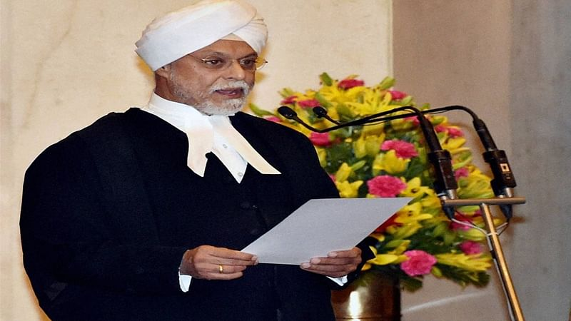 New Delhi: Justice JS Khehar taking oath as the new Chief Justice of India, during a ceremony at Rashtrapati Bhavan in New Delhi.  PTI Photo by Vijay Verma