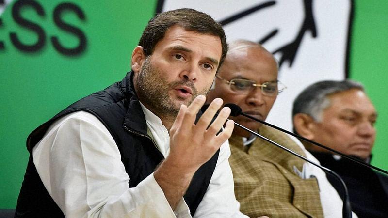 Rahul Gandhi call Modi a weak PM