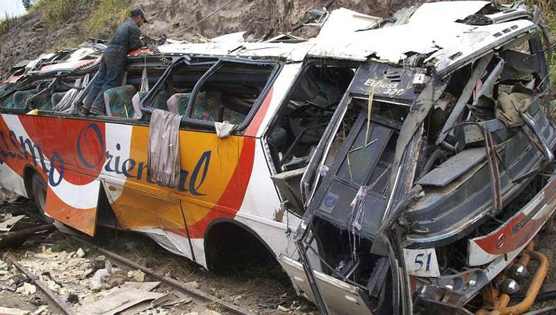 At least 19 dead, 17 hurt in Ecuador bus crash