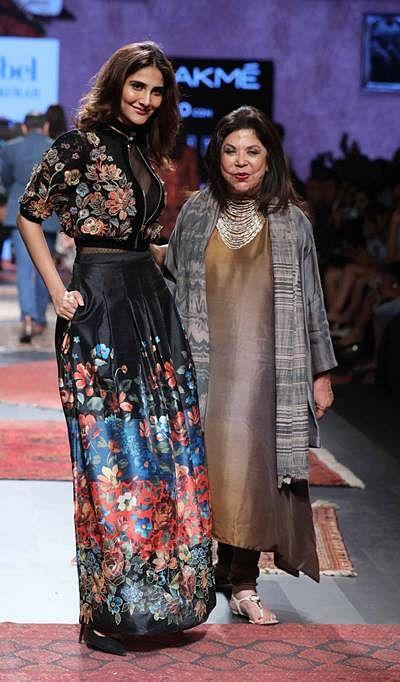 Actress Vaani Kapoor walks for Ritu Kumar at LFW SR 17