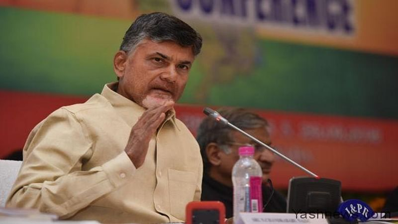 TDP, Congress flags flying together for country's good: Chandrababu Naidu