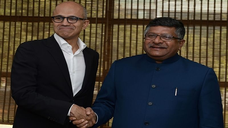 IT Minister Prasad urges Microsoft CEO Nadella to help boost DigiGaon initiative
