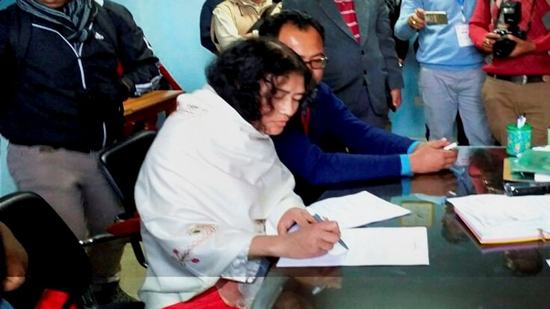 Manipur polls: Irom Sharmila files nomination from Thoubal