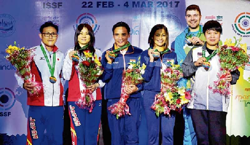 Fireworks from Indian guns in ISSF World Cup