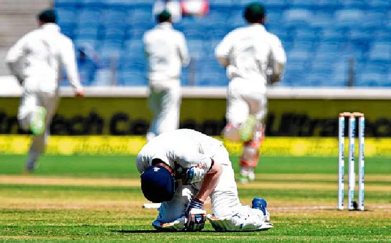 India Australia Test Match – Hunted corners the Hunter