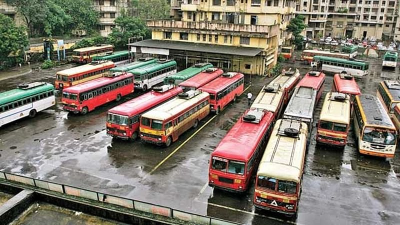 Commuters hit hard as ST bus employees go on strike in Thane