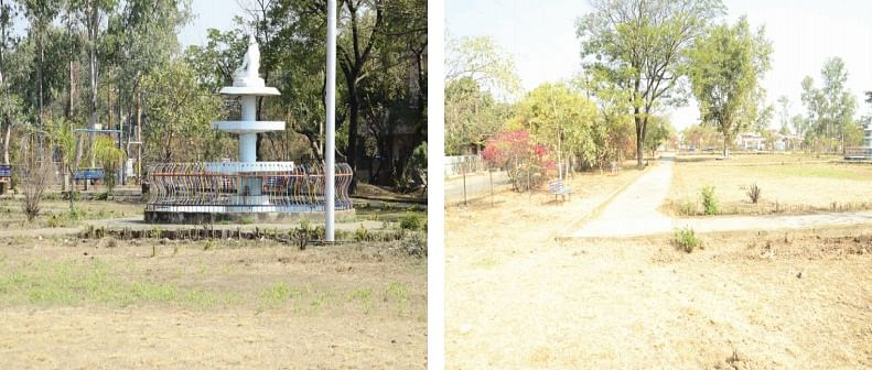 Bhopal: Ground covered with stones, This is Saket Nagar Park for you