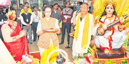 Ujjain: Saraswati puja performed on Basant Panchami