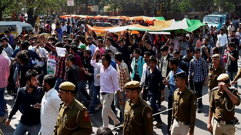 Ramjas College row: ABVP holds 'tiranga march' in Delhi University