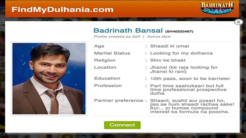 Varun Dhawan aka Badrinath's matrimonial ad will leave you in splits