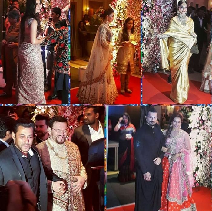 In Pictures: Katrina Kaif, Salman Khan, Amitabh Bachchan and others hit the limelight at Neil Nitin Mukesh wedding reception in Mumbai