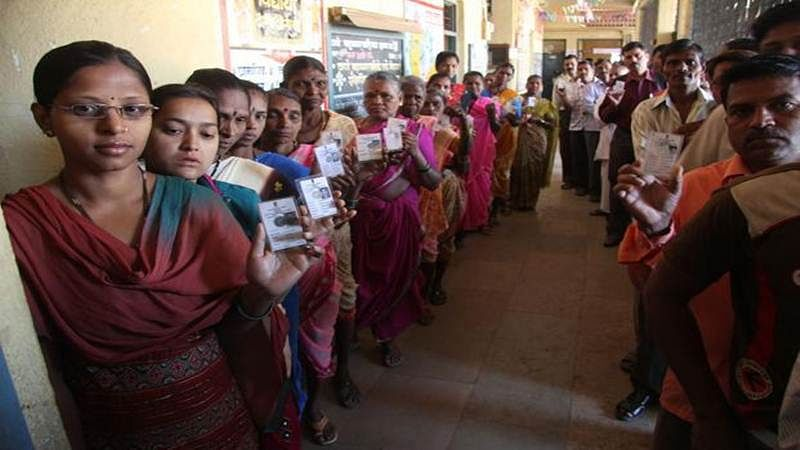 Mumbai records 32 percent voter turnout till 1.30 p.m. in BMC polls
