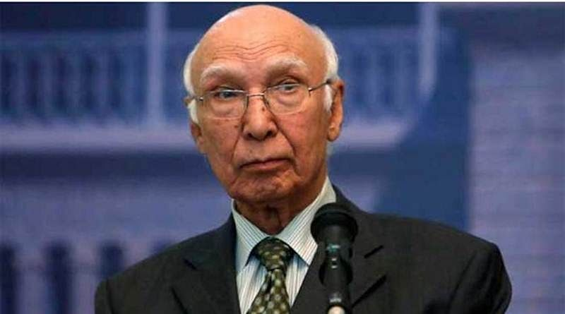 Pak concerned over peace in Indian Ocean: Sartaj Aziz