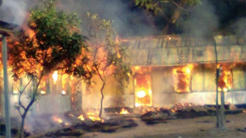 Meghalaya: Mob burns down police station after three persons injured in firing
