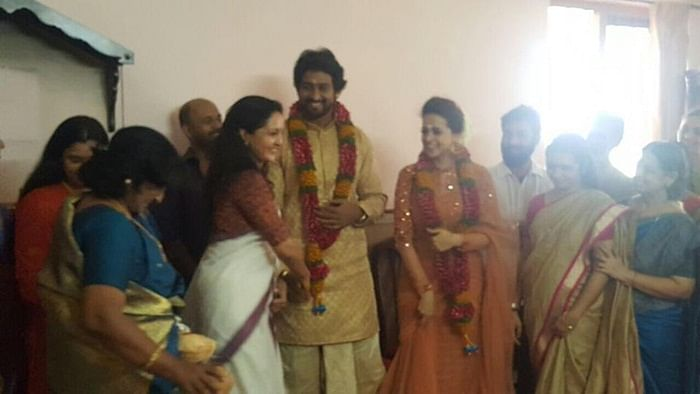 In Pictures: Malayalam actor Bhavana engage to producer Naveen at a private ceremony