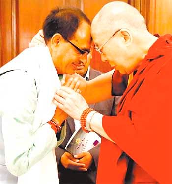 Bhopal: Dalai Lama blames politicians for religious violence