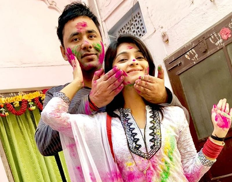 In Pictures: TV celebrities celebrates the festival of colours 'Holi' in Mumbai