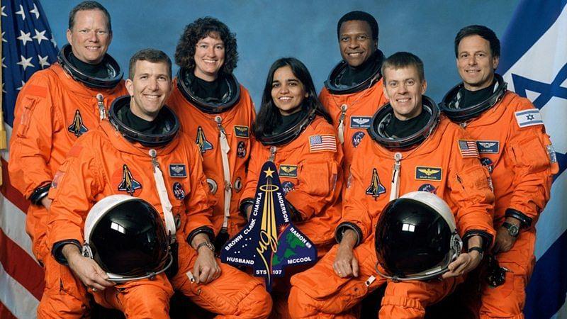 Kalpana Chawla with Space Shuttle Columbia crew