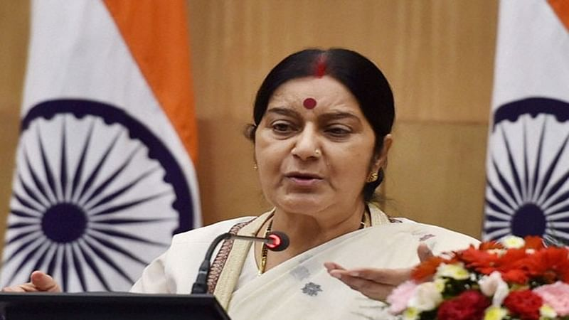 Entire J&K, including Gilgit-Baltistan, belongs to India: Sushma Swaraj
