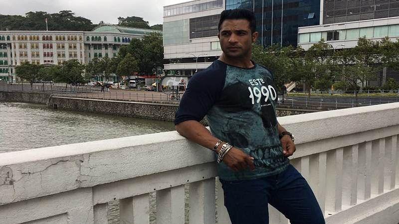 Nazim chills in Singapore