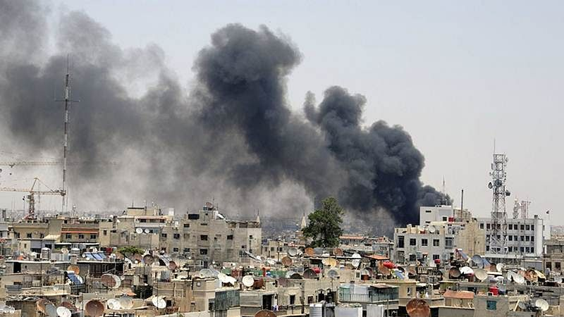 25 killed in Damascus courthouse suicide bombing