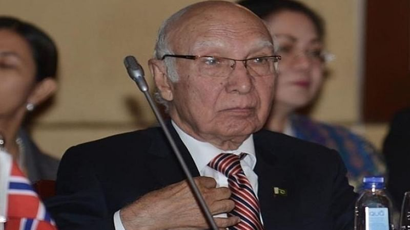 Turmoil in Kashmir not due to cross-border terrorism: Sartaj Aziz