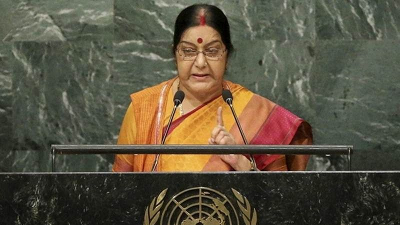 Pakistan can't take Kashmir issue to ICJ: Sushma Swaraj