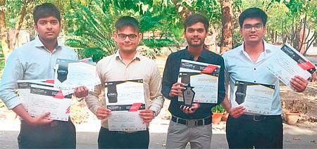 Indore: 4 engineering students bag second position in 'SocCon'