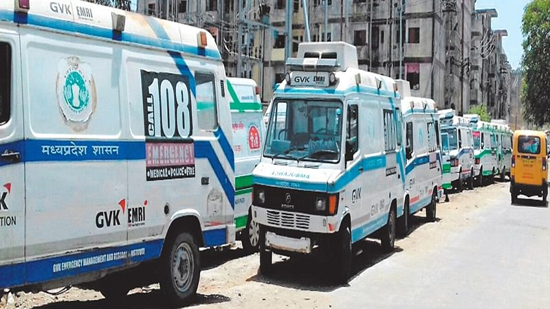 Bhopal: 108 Ambulance staffers go on indefinite strike