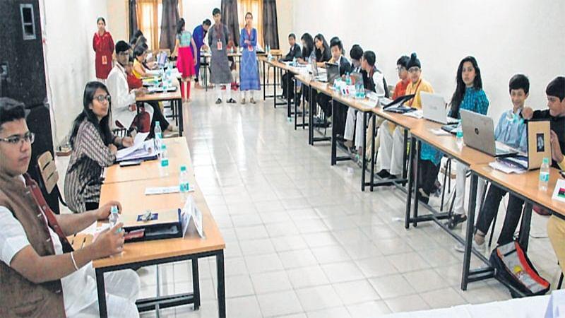Indore: Students debate rigorously at DCMUN