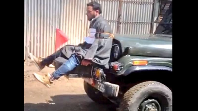 FIR against army jawans over man being tied to jeep as shield