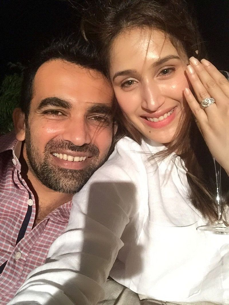 Wishes pour in for Zaheer Khan post engagement, Kumble, DD tag wrong Sagarika