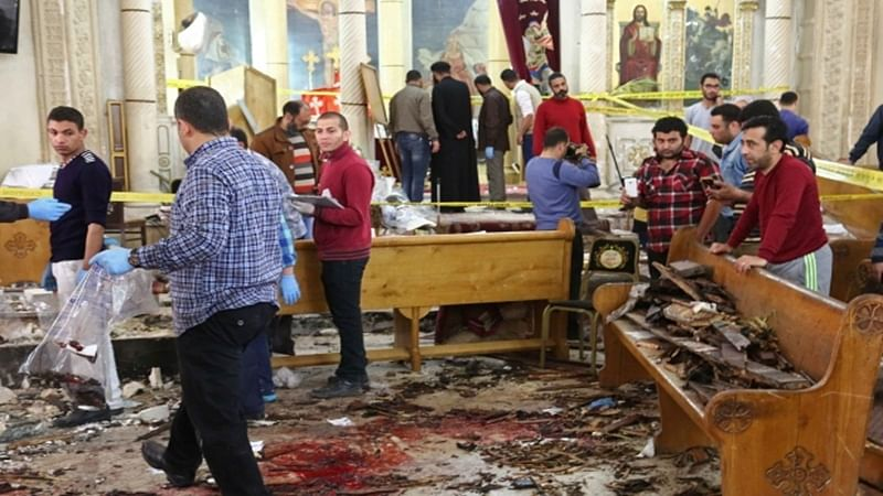 Twin blasts in Egypt churches kill 40 people, ISIS claim responsibility