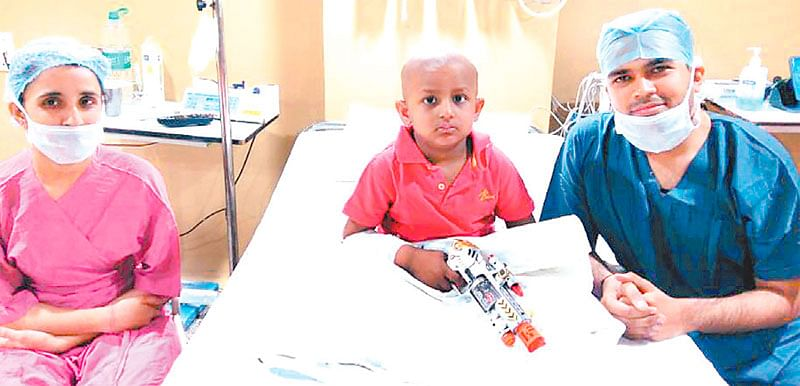 Patient Amol with Dr Bohara