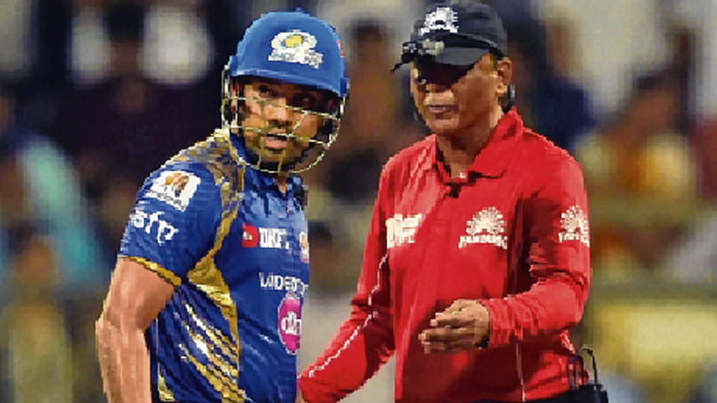'Sharma did not shout at umpire'