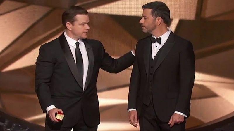 Damon, Kimmel make funa of United Airlines