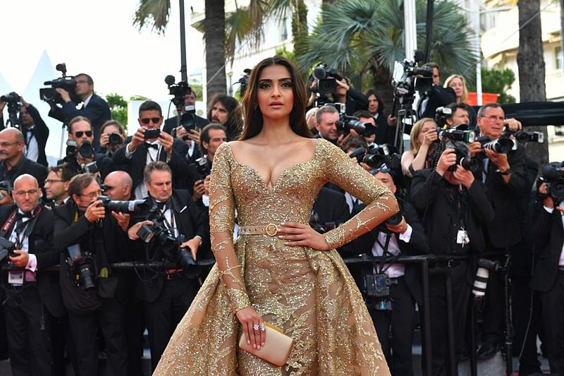 Cannes 2017: Sonam Kapoor stuns everyone with her golden look