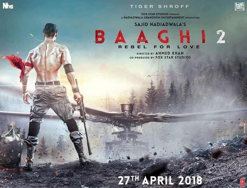 'Baaghi 2' poster: Tiger Shroff flaunts his chiseled body