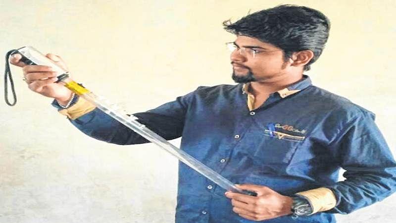 Mumbai: 22-yr-old creates multifunctional baton for Maharashtra police with LED lights, GPS