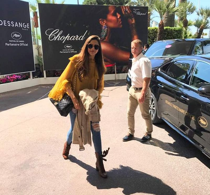 Deepika arrives at Cannes 2017, to walk ramp with Ash, Sonam amidst high security