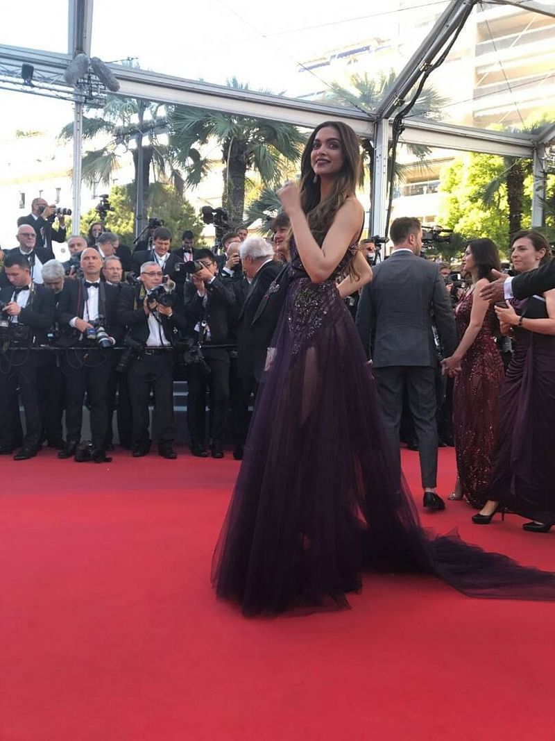 Cannes day 1:  Deepika Padukone stuns in a flawless Marchesca gown. In pics